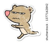 distressed sticker of a angry... | Shutterstock . vector #1377162842