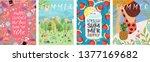 hello summer  cute vector... | Shutterstock .eps vector #1377169682
