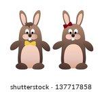 rabbits | Shutterstock .eps vector #137717858