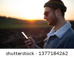 portrait of young man with...   Shutterstock . vector #1377184262