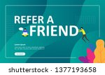refer a friend concept design ... | Shutterstock .eps vector #1377193658