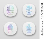 cactuses app icons set. ....