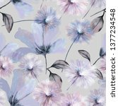 seamless pattern with flowers... | Shutterstock . vector #1377234548