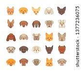 dogs cute kawaii vector... | Shutterstock .eps vector #1377236075