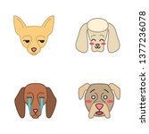 Dogs Cute Kawaii Vector...
