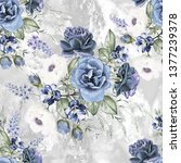 seamless pattern with flowers... | Shutterstock . vector #1377239378