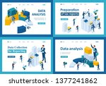 set of landing pages in...   Shutterstock .eps vector #1377241862