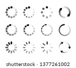 set loading icons. load icon.... | Shutterstock .eps vector #1377261002