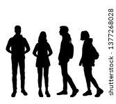vector silhouettes of  man and... | Shutterstock .eps vector #1377268028