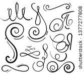 doodle set of curls border text ... | Shutterstock .eps vector #1377277808