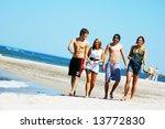 young attractive friends...   Shutterstock . vector #13772830