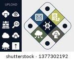 upload icon set. 13 filled... | Shutterstock .eps vector #1377302192