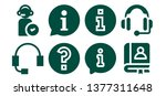 answer icon set. 8 filled... | Shutterstock .eps vector #1377311648