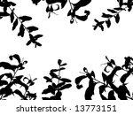 cherry leaf vector silhouette | Shutterstock .eps vector #13773151