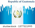 flag of guatemala  republic of... | Shutterstock .eps vector #1377321995
