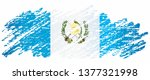 flag of guatemala  republic of... | Shutterstock .eps vector #1377321998