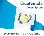 flag of guatemala  republic of... | Shutterstock .eps vector #1377322052