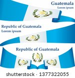 flag of guatemala  republic of... | Shutterstock .eps vector #1377322055