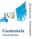 flag of guatemala  republic of... | Shutterstock .eps vector #1377322115