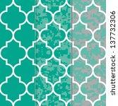 set of 3 seamless moroccan... | Shutterstock .eps vector #137732306
