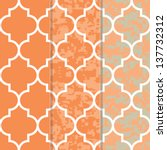 set of 3 seamless moroccan... | Shutterstock .eps vector #137732312