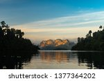 beautiful mountain landscape...   Shutterstock . vector #1377364202