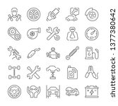 car service and repair icons... | Shutterstock .eps vector #1377380642