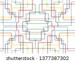 subway tube map. city... | Shutterstock .eps vector #1377387302