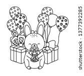 cute adorable animal cartoon | Shutterstock .eps vector #1377392285