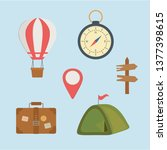 camping zone set icons | Shutterstock .eps vector #1377398615