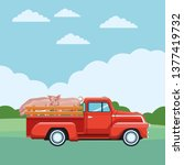 truck and pig | Shutterstock .eps vector #1377419732