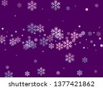 crystal snowflake and circle... | Shutterstock .eps vector #1377421862