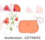 banner with flowers   Shutterstock .eps vector #137743052