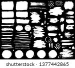 paint brush strokes and ink... | Shutterstock .eps vector #1377442865