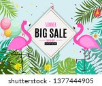 abstract summer sale background ... | Shutterstock .eps vector #1377444905