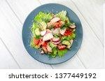 fresh spring vegetable salad...   Shutterstock . vector #1377449192