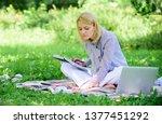 freelance career concept. guide ... | Shutterstock . vector #1377451292