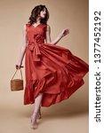 pretty beautiful sexy elegance... | Shutterstock . vector #1377452192