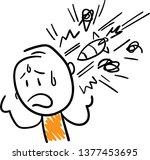 mess mind doodle style vector...   Shutterstock .eps vector #1377453695