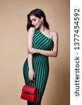 pretty beautiful sexy elegance... | Shutterstock . vector #1377454592