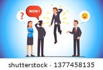 business man picking himself up ... | Shutterstock .eps vector #1377458135