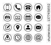 web icons set. web design icon. ... | Shutterstock .eps vector #1377458552