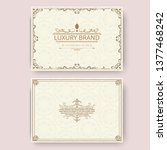 invitation  business card or... | Shutterstock .eps vector #1377468242