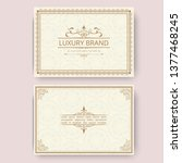 invitation  business card or... | Shutterstock .eps vector #1377468245