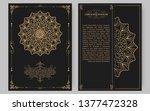luxury vintage golden vector... | Shutterstock .eps vector #1377472328