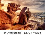 Gargoyles Or Chimeras On Notre...