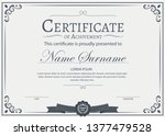 certificate of achievement... | Shutterstock .eps vector #1377479528