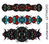 tattoo art designs color set  ... | Shutterstock .eps vector #137749292