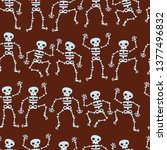 seamless pattern with dancing... | Shutterstock .eps vector #1377496832