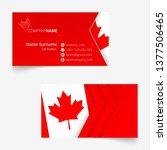 canada flag business card ... | Shutterstock .eps vector #1377506465